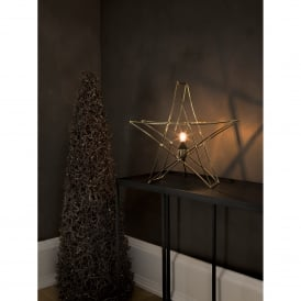 Star Table Lamp in Brass Finish