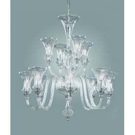 Stara 12 Light Ceiling Pendant In Clear Crystal Glass Finish