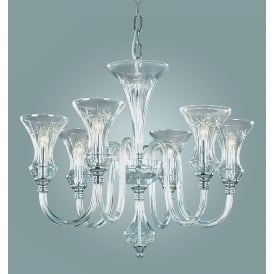 Stara 6 Light Ceiling Pendant In Clear Crystal Glass Finish