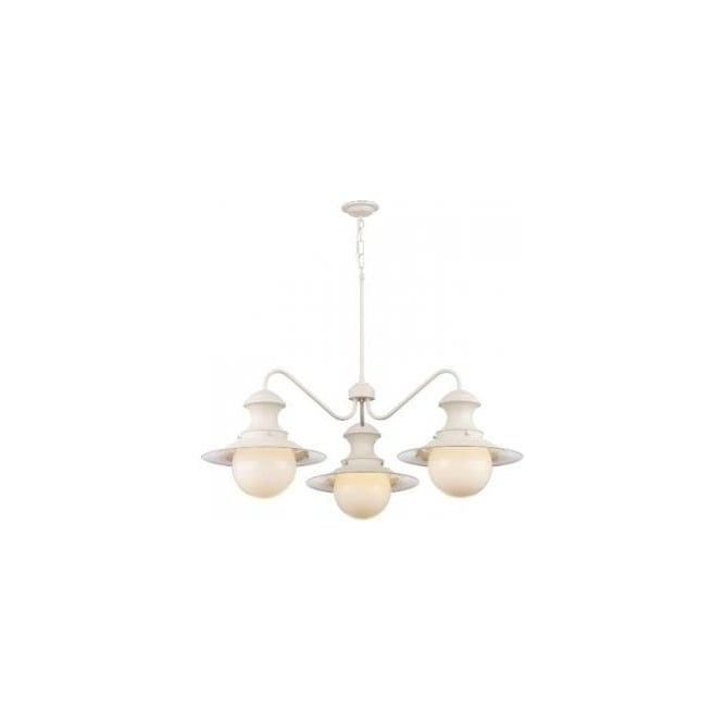 David Hunt Lighting Station 3 Light Ceiling Fitting in Cotswold Cream Finish