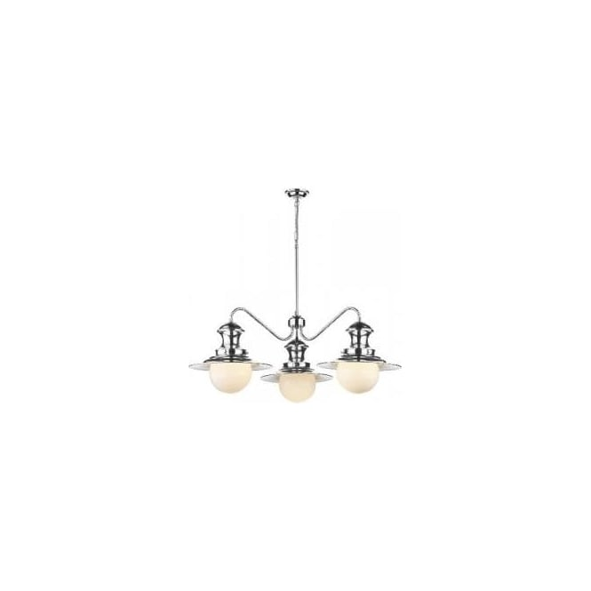 David Hunt Lighting Station 3 Light Ceiling Fitting in Polished Chrome Finish