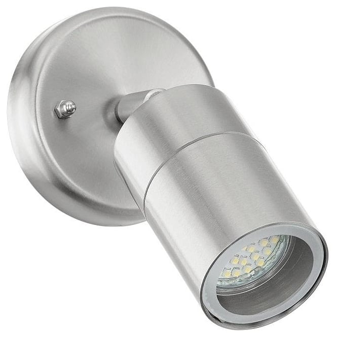 Eglo Lighting Stockholm 1 LED Single Light Outdoor Wall Fitting In Stainless Steel Finish