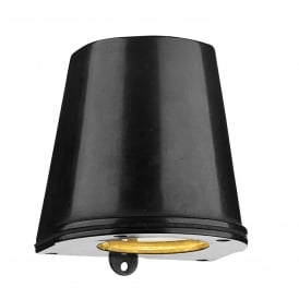 Strait Single LED Outdoor Wall Fitting Made From Solid Brass in Oxidised Finish