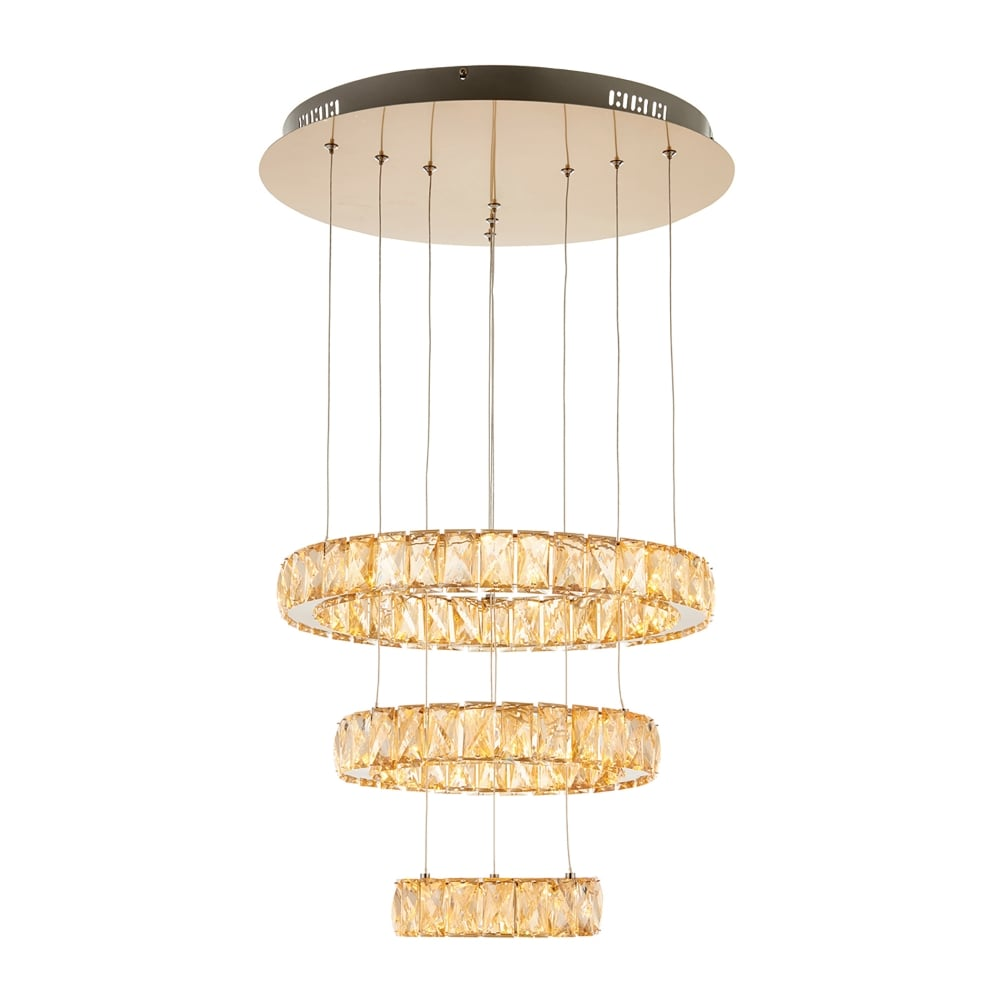 Led Ceiling Lights Brass : Endon lighting swayze ring led ceiling pendant in