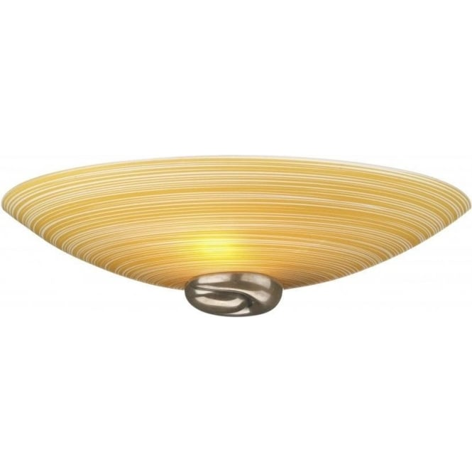 David Hunt Lighting Swirl 2 Light Amber Wall Fitting in Bronze Finish