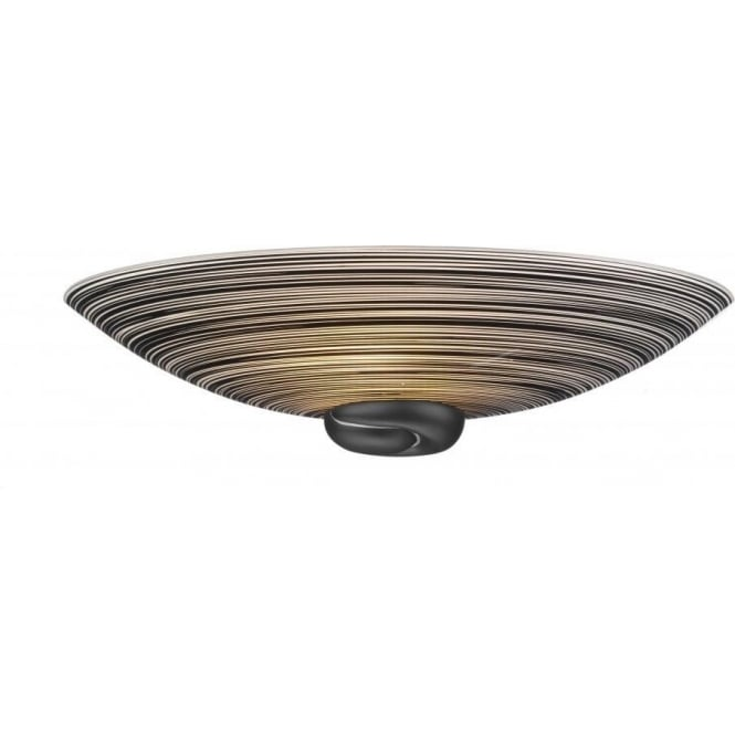 David Hunt Lighting Swirl Single Light Wall Washer With Black Swirl Finish Glass And Black Detail