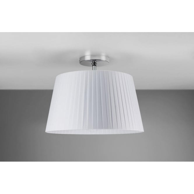 Astro Lighting Tag 400 White Pleated Fabric Shade For Use With Ceiling Fittings