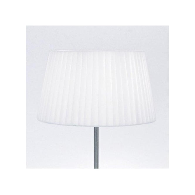 Astro Lighting Tag Tapered Table Lamp Shade with White Fabric and Pleat Detail