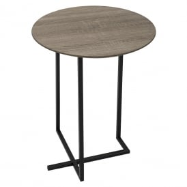 Tamworth Round Side Table In Oak Style Veneer Finish
