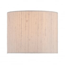 Taupe 100% Silk Cylindrical Drum Shade for Ferrara Wall Bracket