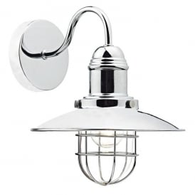 Terrace Single Light Wall Fitting in Polished Chrome Finish