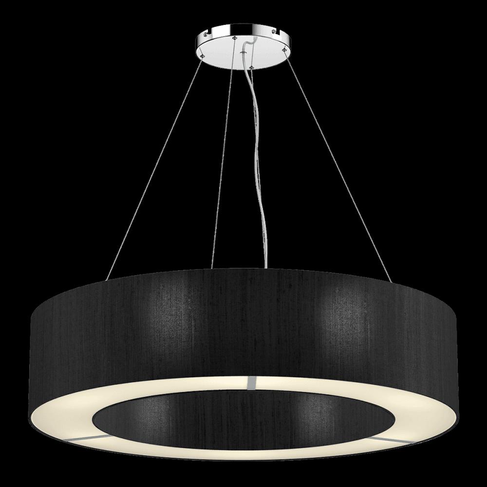 The Light Shade Studio Pol0422 Polo 4 Light Ceiling Pendant With 100 Silk Black Shade Castlegate Lights