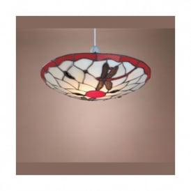 Tiffany Dragonfly Ceiling Light Uplighter Shade In 4 Colours