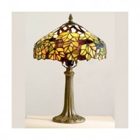 Tiffany Green Maple Leaf Table Lamp