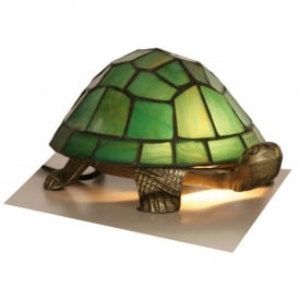 Tiffany Single Light Green Tortoise Table Lamp