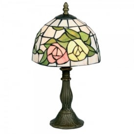 Tiffany Single Light Pink Yellow Table Lamp