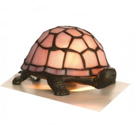Tiffany Single Light Tortoise Pink Table Lamp