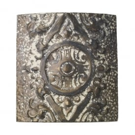 Tile Single Light Wall Fitting In Stone Bronze Finish