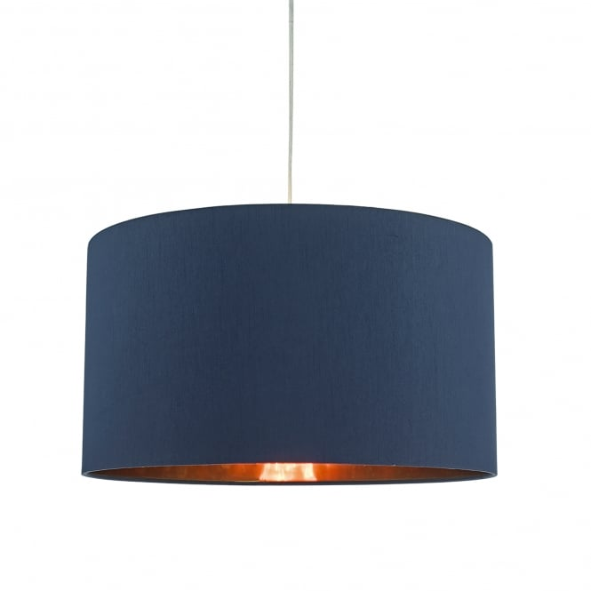 Dar Lighting Timon Easy Fit Ceiling Pendant Shade in Navy Blue with Copper Gold Lining