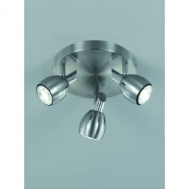 Tivoli 3 Light LED Ceiling Spot Light Fitting In Satin Nickel Finish