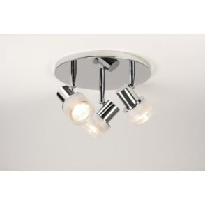 Tokai 3 Light Bathroom Circular Spotlight in Polished Chrome Finish