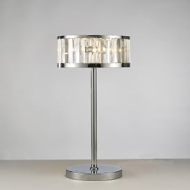 Torre 3 Light Crystal Table Lamp with Polished Chrome Finish