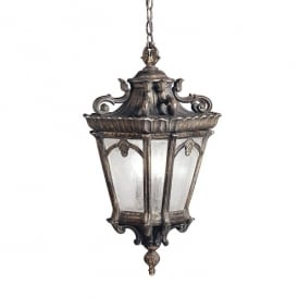 Tournai 3 Light Extra Large Ceiling Pendant Made of Die Cast Aluminium in Londonderry Finish (Outdoor)