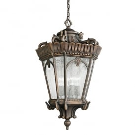 Tournai 4 Light Grand Ceiling Pendant Made of Die Cast Aluminium in Londonderry Finish (Outdoor)