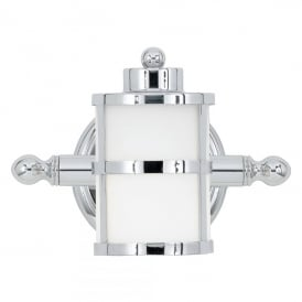 Tranquil Single Light Bathroom Wall Fitting in Polished Chrome Finish