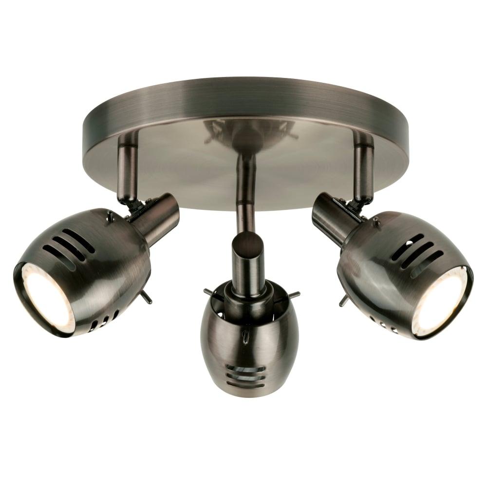 searchlight lighting trojan 3 light ceiling spotlight