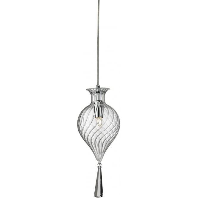 080b4fecd77 searchlight lighting twirls single light ceiling pendant in polished chrome  finish w.