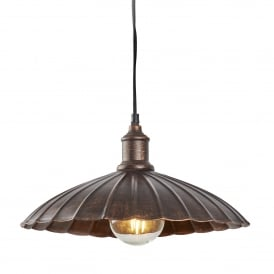Umbrella Single Light Ceiling Pendant In Bronze Finish