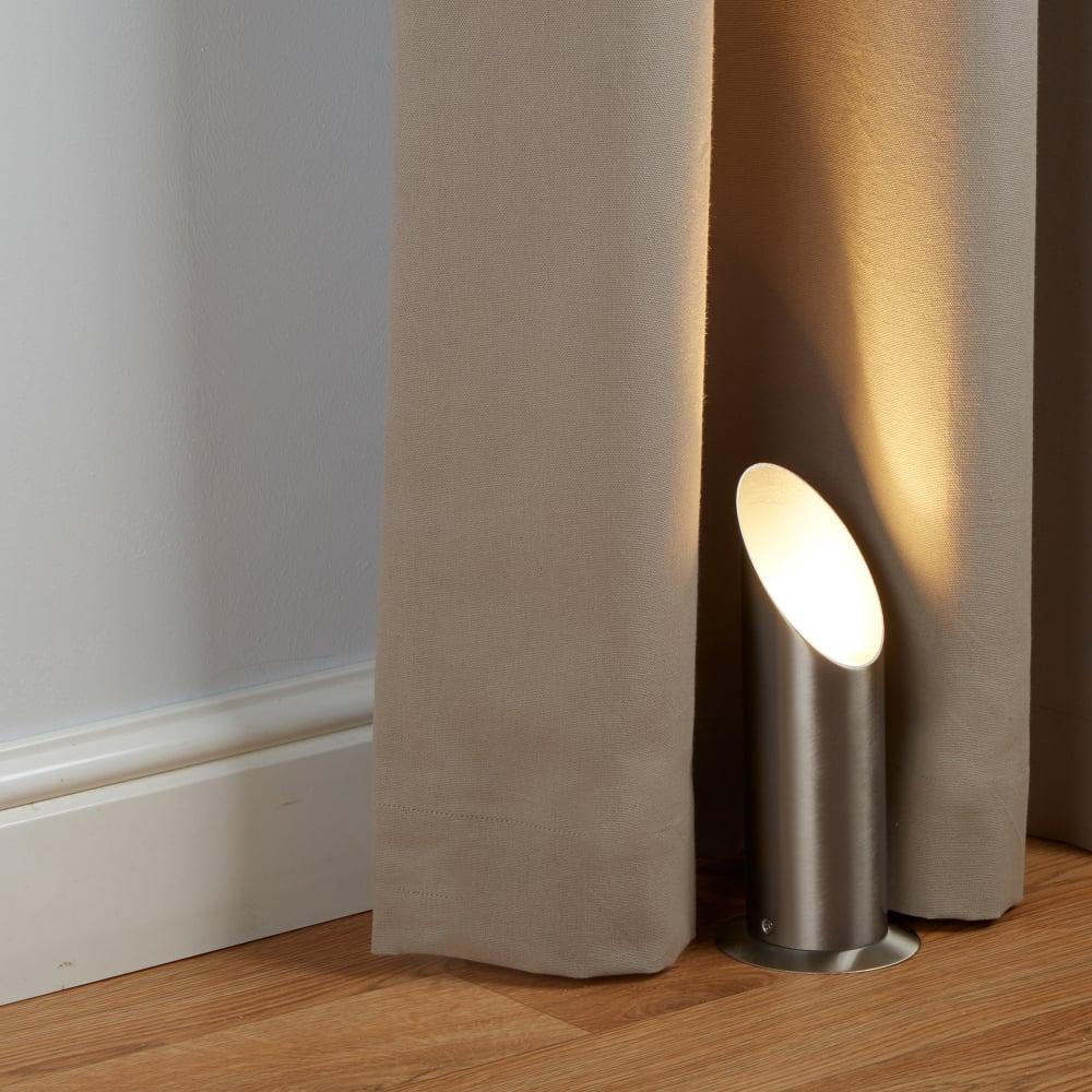 Searchlight lighting uplighter single light satin silver for Uplighter single floor lamp