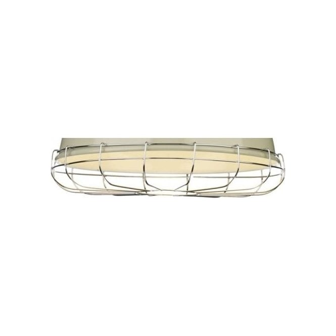 David Hunt Lighting Utility Ceiling Pendant Cage Decoration in Polished Chrome