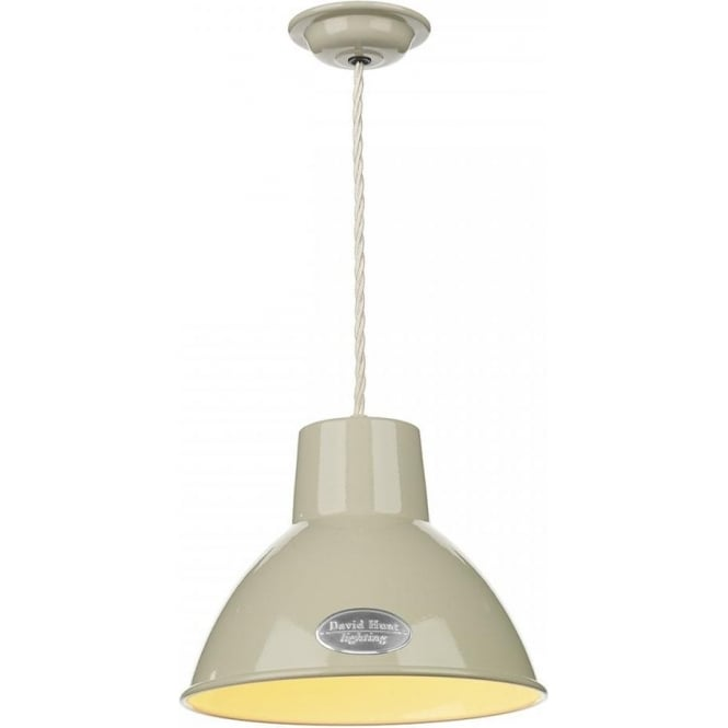 David Hunt Lighting Utility Single Light Small Ceiling Pendant in French Cream Finish