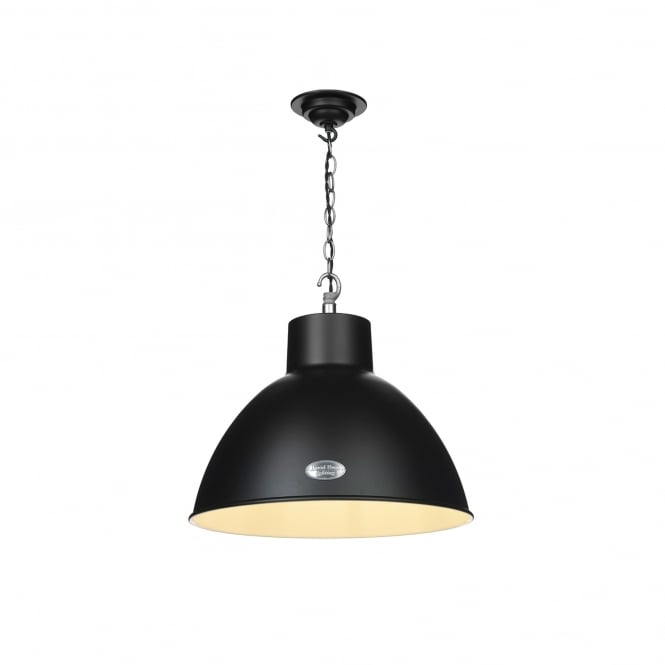 David Hunt Lighting Utility Single Light Small Ceiling Pendant in Matt Black Finish