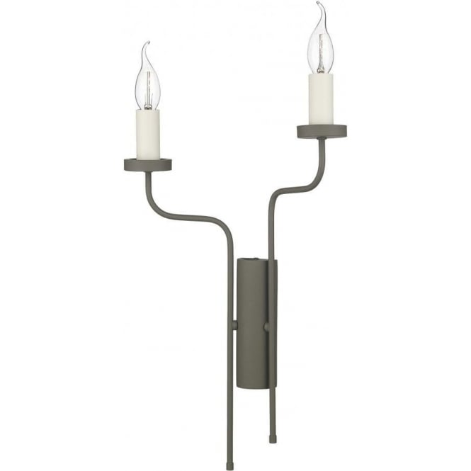 David Hunt Lighting Vail 2 Light Right Hand Wall Fitting In Marston & Langinger Mole Brown Finish