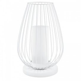 Vencino Single Light LED Table Lamp In White Finish