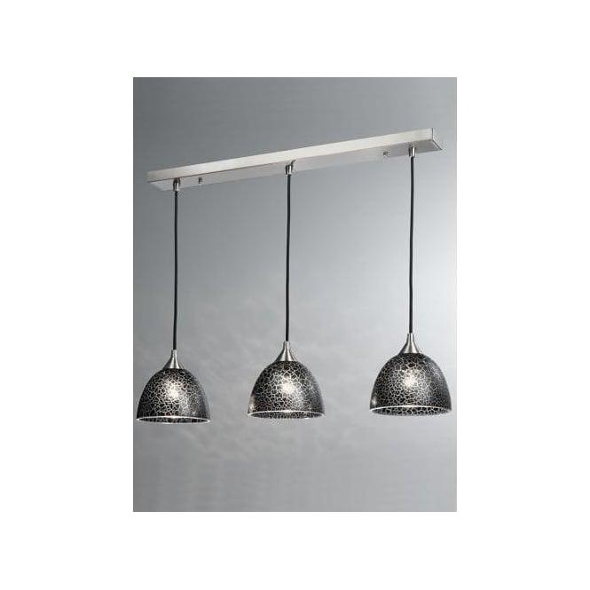 pendant lighting for bars. Vetross 3 Light Bar Pendant With Black Crackle Effect Glass Shades Lighting For Bars R
