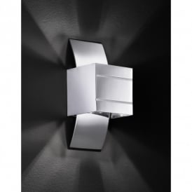 Via Single Light Polished Chrome Halogen Wall Fitting