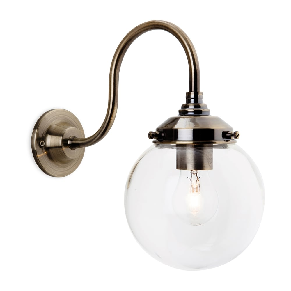 Franklite Glass Globe Wall Light