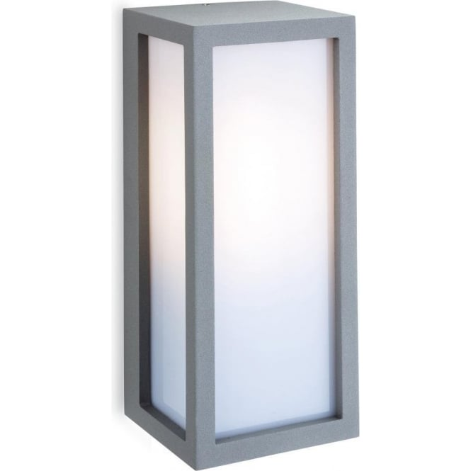 Low Energy External Wall Lights : Firstlight Warwick Single Light Silver Coloured Outdoor Wall Fitting with Low Energy Lamp ...