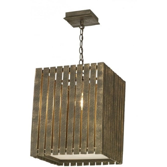 David Hunt Lighting Whistler Large Single Light Ceiling Fixture with a Gold Cocoa Finish