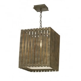 Whistler Large Single Light Ceiling Fixture with a Gold Cocoa Finish