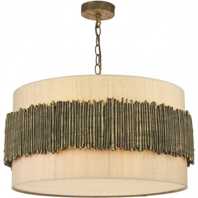 David Hunt Lighting Willow 4 Light Ceiling Pendant with Gold Cocoa Finish