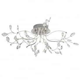 Willow 5 Light LED Ceiling Fitting In Polished Chrome Finish