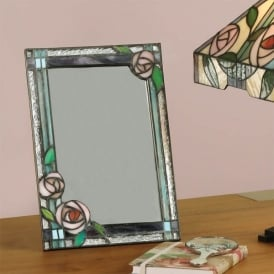 Willow Decorative Wall or Table Mirror with Classic Tiffany Design