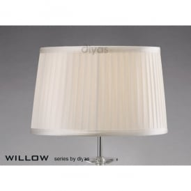 Willow Medium 30cm White Pleated Fabric Shade
