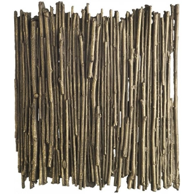 David Hunt Lighting Willow Single Light Wall Fitting with Gold Cocoa Finish