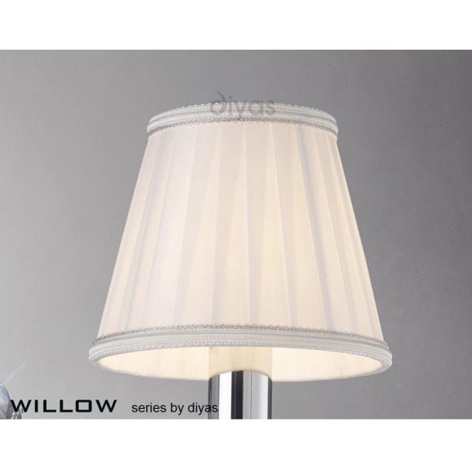 Diyas Willow Small White Pleated Candle Clip Shade